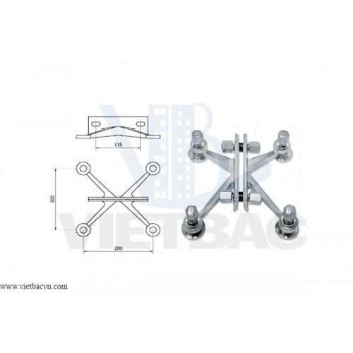 Kiềng nối kính Spider VBS404