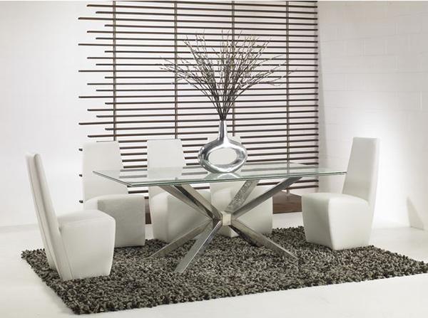 Những mẫu bàn ghế ăn kính tuyệt đẹp)
